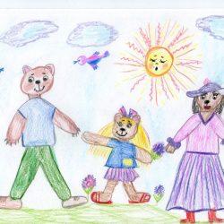 Поползина Лиза, по сказке Три медведя