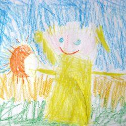 Ершова Дарья 4 года ДС 23 Осень....воспитатель вышел погулять. С огромною карзинкой грибов пособирать